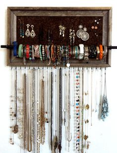 I discovered this 10x20 Custom Barn Wood Frame Jewelry Organizer on Keep. View it now.