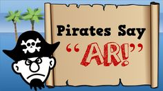 """Pirates Say AR! Great way to introduce """"ar"""" words. It introduces the ar words with an image to go with the spelling. But the pirate sound is very catchy! Harry Kindergarten, Kindergarten Reading, Teaching Reading, Kindergarten Themes, Guided Reading, Phonics Videos, Phonics Song, Jolly Phonics, First Grade Phonics"""