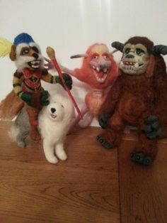 "felt knitting of characters from ""The labyrinth"" !"