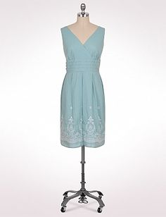 Plus Size Embroidered Surplice Dress | Dressbarn....this is what i am wearing to @Valerie Betts wedding :)