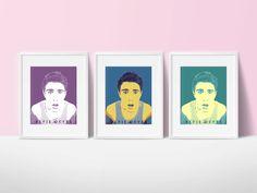 Portrait of Alfie Deyes youtuber. 3 by NushaPinkboxPrints on Etsy