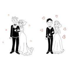 Doodle couple on wedding ceremony vector by Buchan on VectorStock®