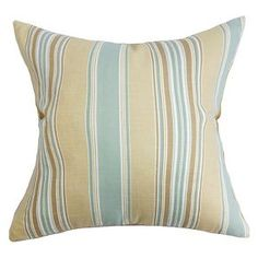 The Pillow Collection Stripe Decorative Pillow - Surf