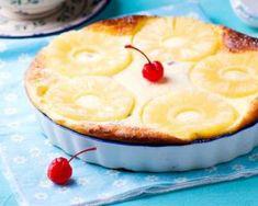 Gratin sucré à l'ananas façon clafoutis : http://www.fourchette-et-bikini.fr/recettes/recettes-minceur/gratin-sucre-a-lananas-facon-clafoutis.html