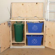 Build a Recycling Organizer   Home Depot Canada
