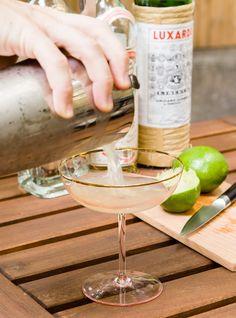 The Beachcomber Cocktail  Serves 1 1 1/2 ounces light rum 3/4 ounce orange liqueur 3/4 ounce lime juice 1/4 ounce maraschino liqueur