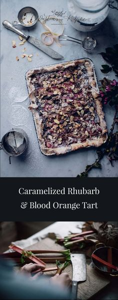 This caramelized rhubarb and blood orange tart is my fresh, seasonal take on childhood memories. You'll absolutely love the taste and feeling of home! Toasted Almonds, Sliced Almonds, A Food, Food And Drink, Sweet Tarts, Blood Orange, Food Styling, Food Processor Recipes, Caramel