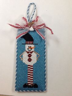 Love this snowman needlepoint ornament