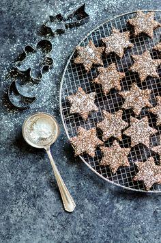 Chocolate Cinnamon Stars. A modern twist to a classic Swiss recipe. Plus it's gluten-free! | eatlittlebird.com