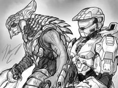 Halo-Ween 2019 - Were it so Easy by on DeviantArt Cortana Halo, Halo Armor, Halo Master Chief, Halo Collection, Military Drawings, Wallpaper Naruto Shippuden, Halo 3, Arte Horror, Game Art