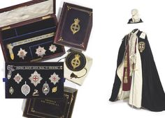 The unique Spencer family Garter jewels, from Frederik, 4th Earl Spencer (Created Knight in 1849), John, 5th Earl Spencer (Created Knight in 1865) and Charles, 6th Earl Spencer (Created Knight in 1913). The Robes of the Order, together with the coronation suit of an earl, from (Christie's — The Spencer House Sale — 8 July 2010, London, King Street) http://www.christies.com/lotfinder/Lot/the-unique-spencer-family-garter-jewels-from-5335281-details.aspx