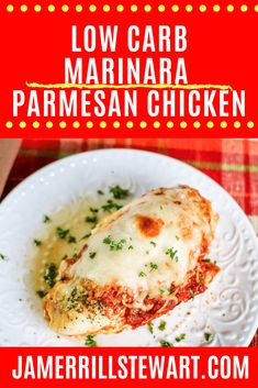 Low carb marinara parmesan chicken is filling, easy to make, and frugal. Pair it with a salad, riced cauliflower, or spaghetti squash. Marinara Recipe, Low Carb Marinara, Vegan Recipes Easy, Low Carb Recipes, Crockpot Recipes, Chicken Recipes, Beef Casserole, Casserole Dishes, Country Ribs Recipe