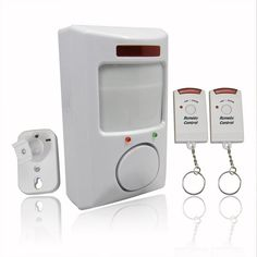 106dB Wireless Motion Detector IR Infrared Remote Security