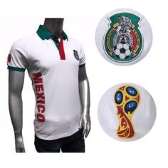 9026763b4 Mexico 2018 World Cup Soccer Jersey Green Mundial Rusia 2018 Polo Shirts  WHITE Discount Price 36.90 Free Shipping Buy it Now