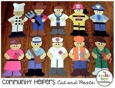 This Community Helper Cut and Paste Set is a big hit in the classroom! Students will love assembling their favorite community helper by cutting and gluing them together. Preschool Classroom, Preschool Activities, Space Activities, Community Helpers Crafts, People Who Help Us, Community Workers, Preschool Programs, Classroom Community, Community Helpers Kindergarten