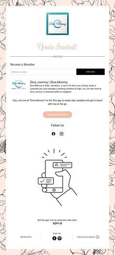 You're Invited! Tumblers, Diva, Invitations, Abstract, Art, Summary, Art Background, Kunst, Divas