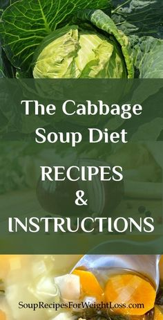 The Cabbage Soup Diet Recipe and Instruction | http://souprecipesforweightloss.com/cabbage-soup-diet-recipe/ #diet #weightloss #recipes #totalbodytransformation