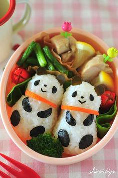 双子パンダ弁当/Twins' panda lunch