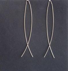 Delicate dangle earrings, Lightweight earrings, elegant earrings by juli711. This sterling silver dangle pine needles lightwieght earrings has a charming