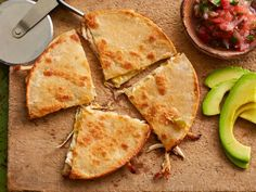 Chicken, Chili and Cheese Quesadillas: Top cheesy quesadillas with a homemade salsa that gets heat from hot sauce.
