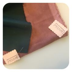 Mauve velvet & evergreen sueded twill