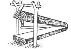 Плашка на колонка или норку