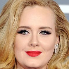 Adelle at the grammys...retro eyes and lips for the evening