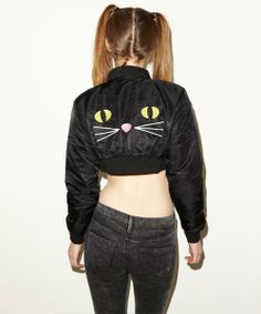 Lazy Oaf | Kitty Boom Boom Bomber Jacket