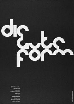 Armin Hofmann, Die Gute Form Graphic Design Posters, Graphic Design  Typography, Graphic Design