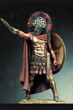 Spartan hoplite leader