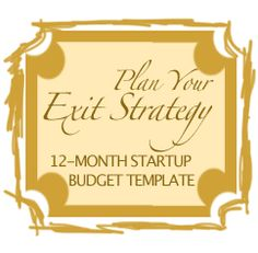 12-month financial exit strategy budget planning tool