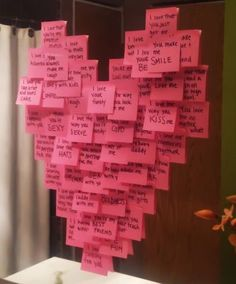 Love messages on Post-it notes