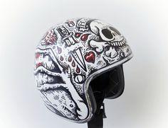 pinterest.com/fra411 #bike #art #helmet