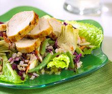A heart-healthy recipe for Summer Chicken and Rice Salad.