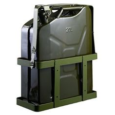 Goplus® 5 Gallon 20L Gas Jerry Can Fuel Steel Tank Military Green w/ Holder New