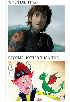 book hiccup compared to movie hiccup Dreamworks Movies, Dreamworks Animation, Hiccup And Toothless, Httyd, Dragon Memes, Dragon 2, How To Train Your Dragon, Laughing So Hard, Great Movies