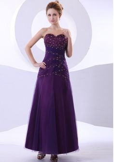 Beading Decorate Bodice Purple Ankle-length Tulle and Taffeta 2013 Prom Dress Affordable Prom Dresses, Unique Prom Dresses, Prom Dresses Online, Prom Party Dresses, Pageant Dresses, Prom Gowns, Dress Online, Dresses 2013, Gowns Online
