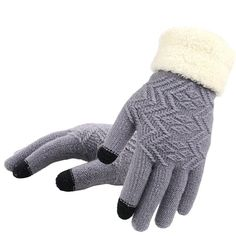 Women Knitted Mittens Ladies Gloves Winter Warm Thicken Hanging Neck Mittens Thermal Soft Wool Outdoor Gloves Full Finger Hand for Ladies Christmas Birthday