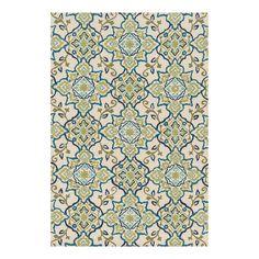 Loloi Francesca Ivory/Ocean Rectangular Indoor Handcrafted Area Rug (Common: 8 x 10; Actual: 7.5-ft W x 9.5-ft L)