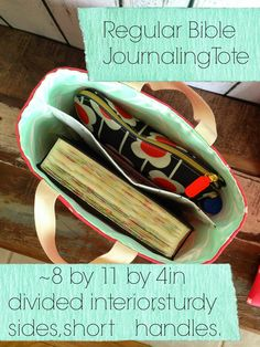 Bible Journaling Tote by Little Bit Funky: Handmade Gifts!
