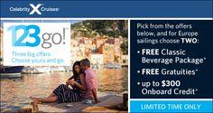 Celebrity Cruises Pick Your Perk Offer Choose One Perk Free