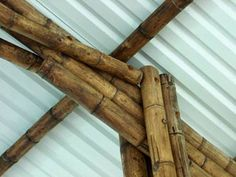 Connection of support/truss with bolts Bamboo Restaurant, Concrete Cover, Bamboo Fountain, Bamboo Building, Bamboo Structure, Bamboo Construction, Architectural House Plans, Bamboo House, Steel Bar