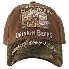 55b1030ba83 Buck Wear Deers   Beers That s How I Roll Hunting Hat. Shootin Deers and  Drinkin Beers Thats How I Roll. One Size Fits Most. Realtree Camo on Brim.