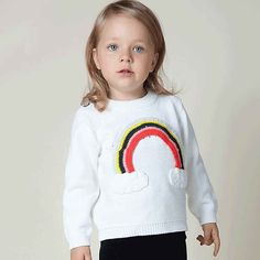 Find More Sweaters Information about (12M 6T) Kids Cotton Handwork Rainbow Crochet Knitted Sweater Toddler Outwear Boys Girls Tops Clothing Spring Pullover Knitwear,High Quality knitwear cotton,China sweater meat Suppliers, Cheap sweater chain from Witness the Growth of Children on Aliexpress.com