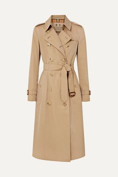 Burberry The Chelsea Long Cotton-gabardine Trench Coat In Beige Beige Trench Coat, Classic Trench Coat, Long Beige Coat, Burberry Outfit, Burberry Trench Coat, Performance Outfits, Mode Ulzzang, Trench Coat Outfit, Trench Jacket