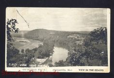 RPPC GAINESVILLE MISSOURI NORFOLK LAKE OF THE OZARKS MO. REAL PHOTO POSTCARD