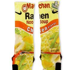 Chicken Ramen Noodles Custom Nike Elite Socks – Fresh Elites