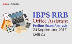 IBPS RRB Office Assistant Prelims Exam Analysis  24 Sep 2017 - Shift 4 http  c6b3c884cc