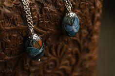 Little butterflies pendants от TaigaTheBorealForest на Etsy