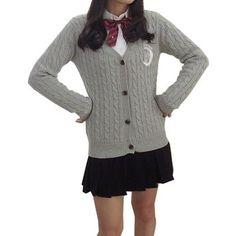 Cute Sailor Moon Embroidry Long Sleeve Cardigan Student JK School Uniform Tops